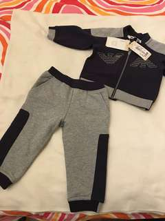 Armani baby suit fleece sport 9 months
