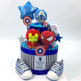 Ready stock-Super Hero 2-tier Diaper Cake