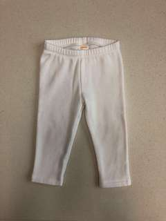 Preloved Gymboree 12-18M Warm Fuzzy White Leggings/Tights/Pants for Baby Girl
