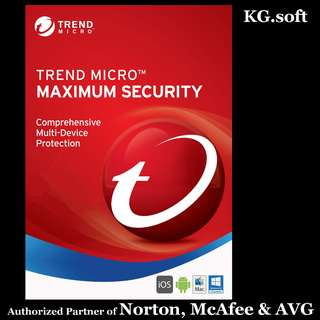 🔥Trend Micro Maximum Security for 1 / 2 or 3 years | Genuine serial number license🔥