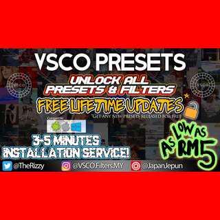 VSCO PRESETS (Unlock All Filters) + Free Update