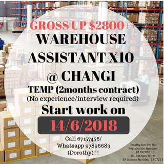Temp Warehouse Assistant (Changi)