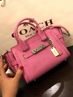 BNWT AUTHENTIC COACH MINI SWAGGER - PINK