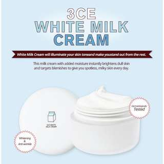 [Buy 1 Free 1]3CE White Milk Cream