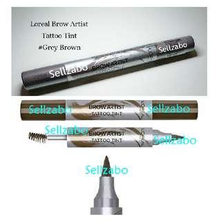 #Grey Brown : Tint Brow Thick Pen & Brush : Loreal : L'oreal : Artist : Tinted : Eyebrow : Tattoo : Eyes : Eyesbrow : Shade : Colour : Makeup : Cosmetics : Tatoo : Sellzabo