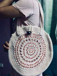 Hand Knitted Oversized Bag