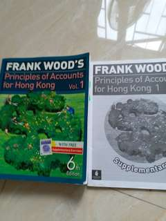 Frank Wood 's..principles of accounts for HK. 457 PAGES