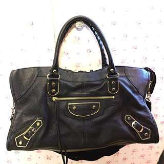 巴黎世家 Balenciaga Women's Black Metallic Edge Part Time