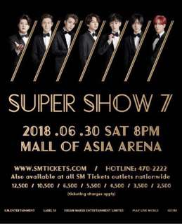 Super Junior Gen Ad B Concert Tickets - June 30