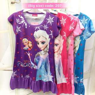 Buy 3 @ RM33 ❤Bargain Sale❤ Frozen Jersey Dress~ Small Version