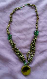Green Stones Necklace from Kalimantan