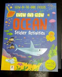 Children Book - glow in tbe dark stickers ocean