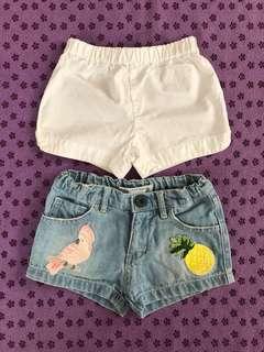 2 pcs shorts