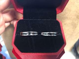 R06 情侶十字銀戒指 紀念日 介子 禮物
