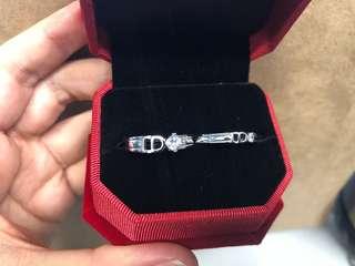R07 情侶銀戒指 紀念日 介子 禮物 I DO 鑽石