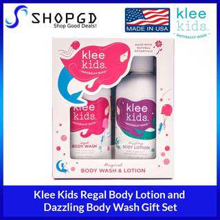 🔥Flash sales🔥SHOPDGD - Klee Kids Regal Body Wash and Dazzling Body Lotion Gift Set [Made in USA - Direct Import]