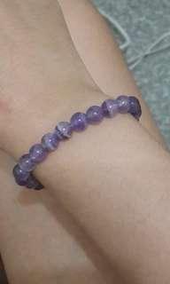 紫尖牙水晶手鍊