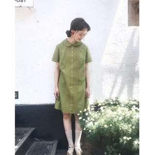 cats_日系 文青復古 娃娃領小洋裝