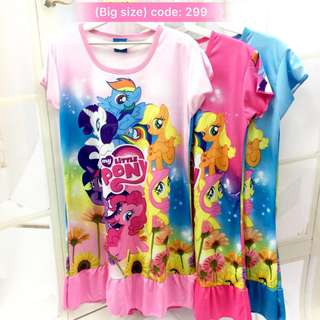 Buy 3 @ RM33 ❤Bargain Sale❤ My Little Pony Jersey Dress J299