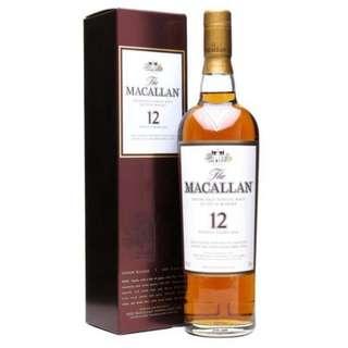 Macallan 麥卡倫雪莉桶12年 (Sherry Oak)