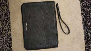 Oroton black pouch wristlet