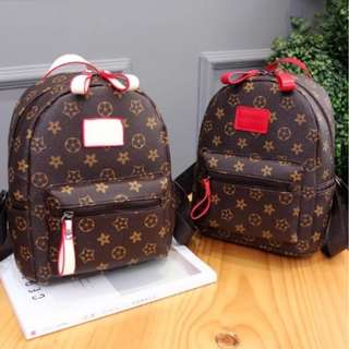 Brown Korean Flowered Mini Backpack   ALL AT 199 ONLY