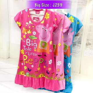 Buy 3 @ RM33 ❤Bargain Sale❤ Peppa Pig Jersey Dress J259