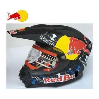INSTOCK SIZE L ONLY★ Redbull Full Face Motorcycle Helmet ★ Motocross Scrambler ★ Offroad ★ Dirt Bike ★ New arrivals ★ Black ★ Ready stocks while stock lasts ★