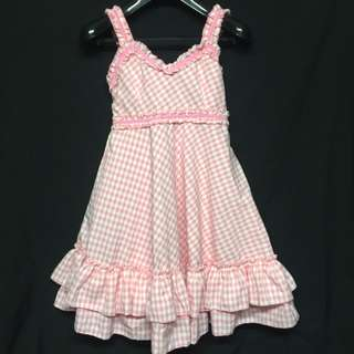 VINTAGE PINK CHECKERED DRESS