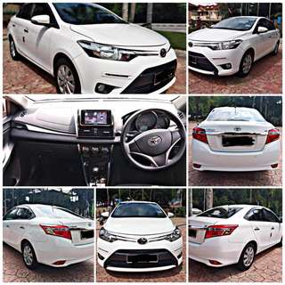 SAMBUNG BAYAR/CONTINUE LOAN  TOYOTA VIOS E SPEC 1.5 AUTO YEAR 2017 MONTHLY RM 920 BALANCE 8 YEARS 3 MONTHS ROADTAX VALID RADIO TOUCH SCREEN  DP KLIK wasap.my/60133524312/vios