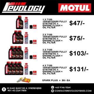 Motul Motorcycle Engine Oil Servicing