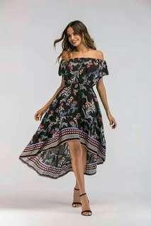 🐢Off shoulder Maxi Dress