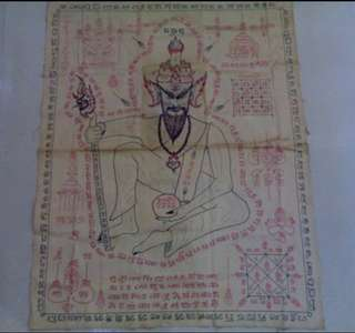 Lersi pha yant drawn on cloth