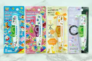 🦒🎈👽Limited Edition PLUS Whiper MR Mini Roller Correction Tapes (5mm x 6m) Disney Toy Story, Alien, Giraffe and Balloon