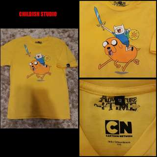 ADVENTURE TIME (Cartoon Network) t-shirt for kids age 12 years old.