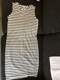 Bae stripe maternity dress