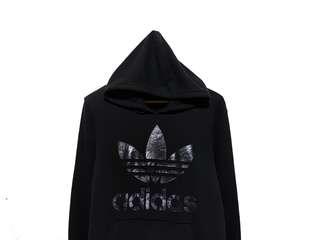 Hoodie Jumper Adidas Trefoil Black