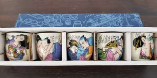 Exotic paintings on cup.