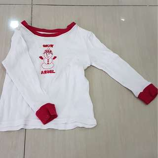 Snow Angel Longsleeved Baby Top