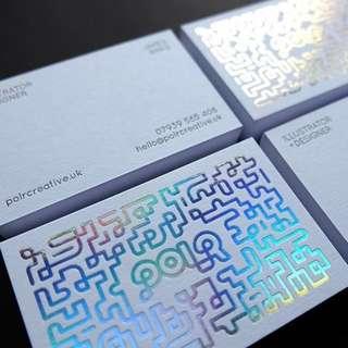 LIQUID FOIL CARD PRINTS