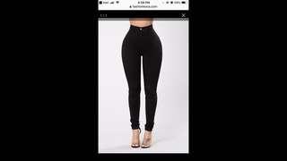Black FashionNova jeans