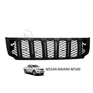 NISSAN NAVARA NP300 2015 (NNF-056) FRONT GRILLE V4 WITH WHITE LED (BLACK)