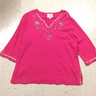 Plus size sequined top