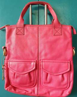 REPRICED Fossil Pink Bag