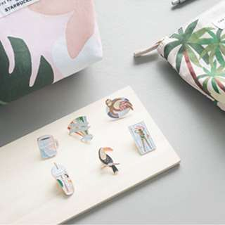 Starbucks x The Paper Bunny Enamel Pins from Singapore