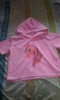 Unicorn Croptop w/ hood