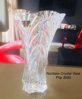 Noritake Crystal Vase