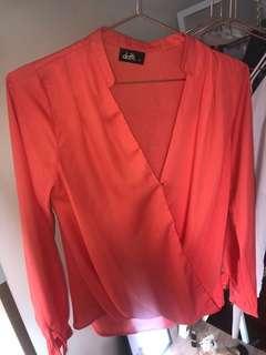 Orange blouse