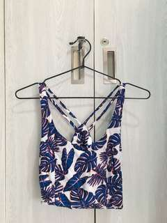 H&M Divided Tropical Themed Crop Top