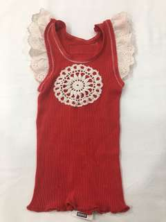 Size (0) red vest
